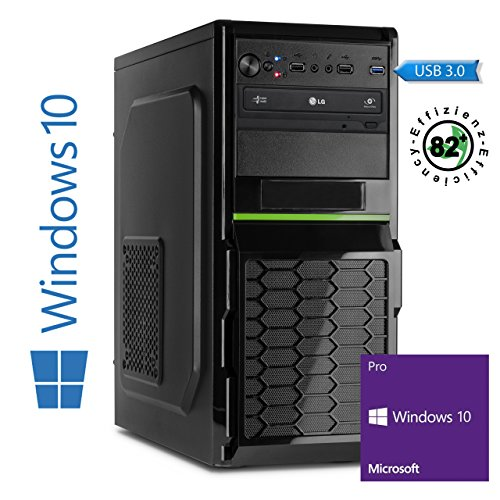 Memory PC Intel PC Core i5-6600K 6. Generation (Quadcore) Skylake 4x 3.5 GHz, 8 GB DDR4 2133Mhz, 256 GB SSD + 1000 GB Sata3/-600, Intel HD 530 Grafik 4K, USB 3.0, SATA3, HDMI, DVD-Brenner, Sound, GigabitLan, Windows 10 Pro 64bit, MultimediaPC