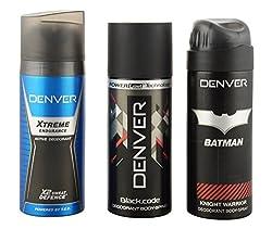 Denver Deodorant Combo for Men (Pack of 3)