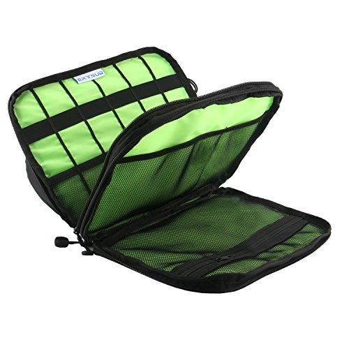 Extsud Tragbare Reisetasche Organisator Tasche mit Doppelschichte Tragetasche für elektronisches Zubehör wie Festplatte Telefon Ladegerät Tasche und Kabel 28x 20cm