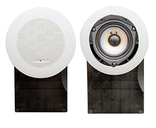 Pyle Wasserdichte Lautsprecher 5-Zoll High Quality PP Cone und PU Edge 500 Watt, Weiß Marine, PLMR66W