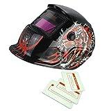 Máscara de Mate Solar Oscurecimiento Automático de Soldadura Por Arco TIG Casco de Soldador Mig - 17