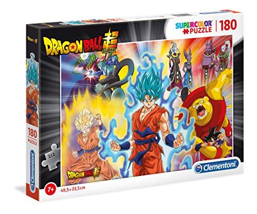 Clementoni- Supercolor Puzzle-Dragon Ball Super-180 pièces- 29761