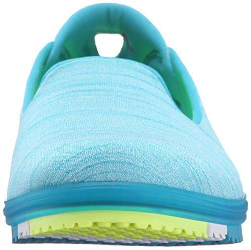 Skechers Go Mini Flex Femmes Toile Chaussure de Marche Turquoise-Lime