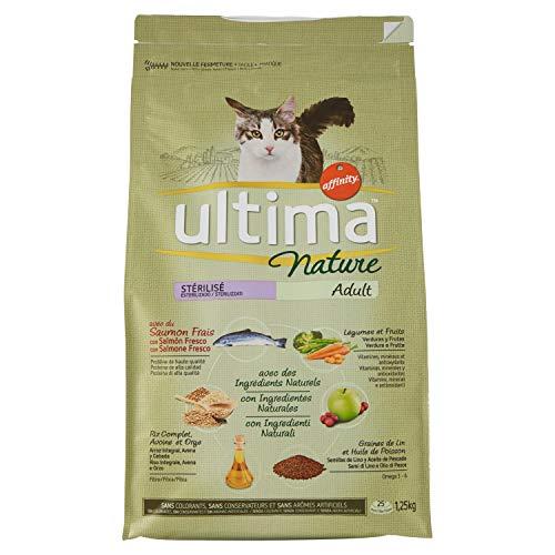 Ultima Nature Cibo per Gatti Sterilizzati con Salmone 1,25 kg
