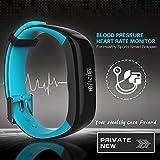 Sport Smart Armband Bluetooth Herzfrequenz Blutdruck Übung Schritt Wasserdichte Aktivität Schrittzähler Schlaf Monitor Gesundheit Fitness Tracker , Blue
