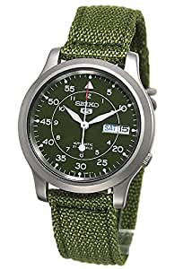 Seiko Men's Analogue Automatic Watch with Textile Strap – SNK805K2