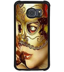 ColourCraft Mask Girl Design Back Case Cover for SAMSUNG GALAXY S6