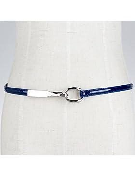 SILIU*La Sra. Correa de cuero fino correas silvestres están equipados con falda decorada barnizadas cinturón de...
