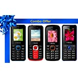 I KALL 1.8 Inch Display Dual Sim Mobile Combo Power Pack Of FOUR Multimedia Mobile- K66 Blue+ K99 Red+ K55 Orange+ K20 Blue