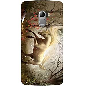 Casotec Unicorn Design Hard Back Case Cover for Lenovo K4 Note