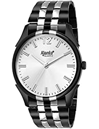 Limited Edition-Ajanta's White Dial Black Belt Wrist Watch For Men AQ-040-S