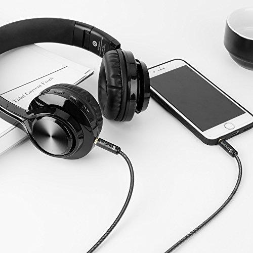 Aux Kabel 2m Syncwire 3.5mm Klinkenkabel - Audio Kabel für Kopfhörer, Apple iPhone iPod iPad, Smartphones, Echo dot, Heim/KFZ Stereoanlagen, MP3 Player und mehr - Nylon - 6