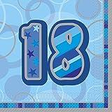 48 Servietten zum 18. Geburtstag in Blau