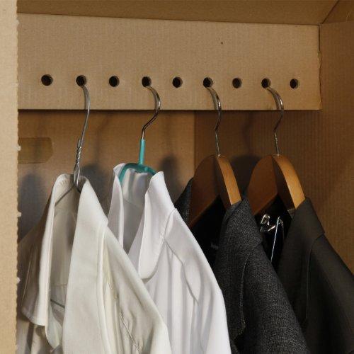 4 neue Kleiderboxen – Kleiderbox in Profi Qualität mit separatem Deckel incl Aufhängevorrichtung - 3