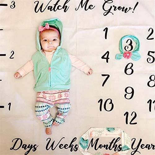 Kostüm Unempfindlich - Yhjklm Baby-Fotodecken Baby Foto Hintergrund Tuch Baby Kreative Monat Fotografie Requisiten Decke Neugeborenen Brief Graffiti Fotografie Kostüm weich bequem (Farbe : G)
