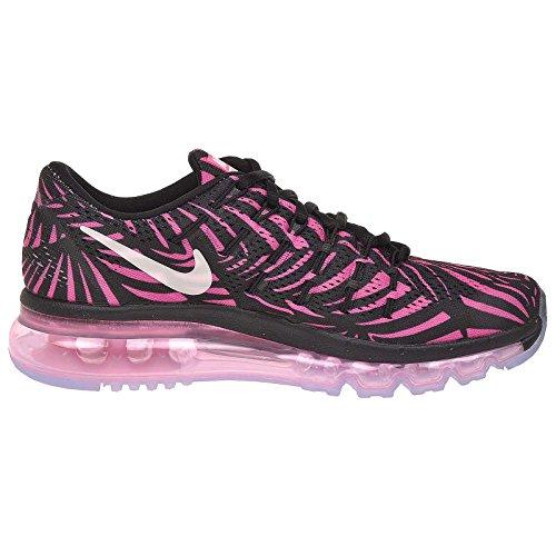 Nike Wmns Air Max 2016 Impression, Scarpa Da Corsa Donna Nero (negro (noir / Perle Rose-pink Blast))