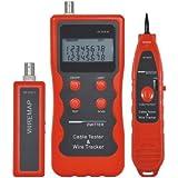 DEHANG - Medidor Comprobador Tester Electrónico de Cables de Red LAN Coaxial USB 5E / 6E /RJ45 / RJ11 / BNC / USB / 1394