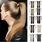 CLOOM Gerade lange Perücken Echte neue Clip in Haarverlängerung gerade Pferdeschwanz wickeln um Pferdeschwanz Bandage Pferdeschwanz Perücke Pferdeschwanz Perücke hohen Qualität geraden Haares