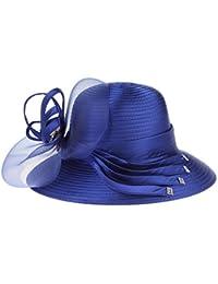 La Vogue-Cappello da Sole Cilindro Donna Pizzo Bowknot Berretto Tesa Garza  Secchio Festa 643c85e671b2