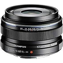 Olympus M.Zuiko digital - Objetivo para Micro Cuatro Tercios (distancia focal fija 17mm, apertura f/1.8-22) color negro