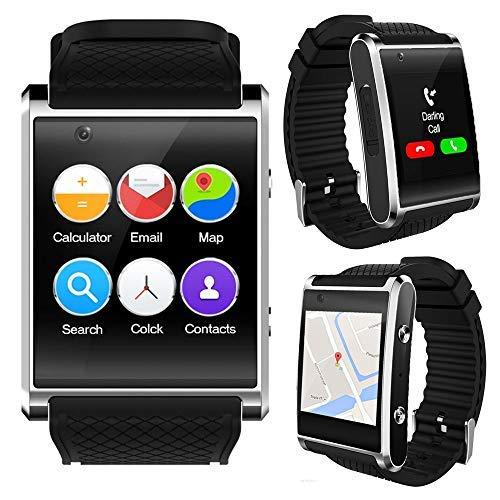 inDigi® GSM entsperrt. Stilvolle Android 5.1Smart Watch Phone GSM 3G + WiFi GPS + Herzfrequenz Sensor + Temperatur Sensor Unlocked Gsm Touchscreen