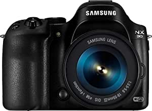 Samsung NX30 kompakte Systemkamera (20,3 Megapixel, 7,6 cm (3 Zoll) Display, Full HD Video, Wi-Fi, inkl. 18-55 mm OIS i-Function Objektiv) schwarz
