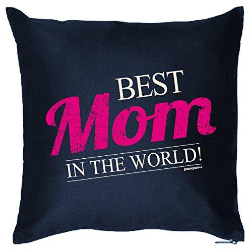 Ein liebes Geschenk für Mama - BEST MOM IN THE WORLD! - Kissen mit Füllung