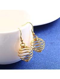 74a2e44fc907 Burenqi Joyería para Mujer Pendientes Colgantes en Forma de Gota Plata y Oro  Bohemio Filigrana Recorte Forma de lágrima Pendientes…