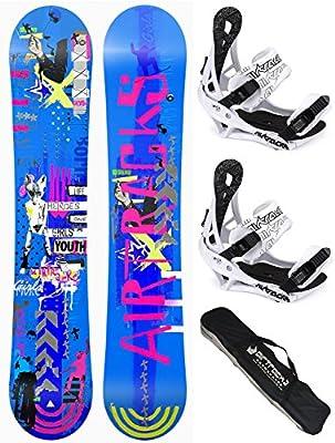 SNOWBOARD SET (PAQUETE COMPLETO) AIRTRACKS TABLA BLUEBIRD MUJER+FIJACIONES SAVAGE W+BAG/NUEVO