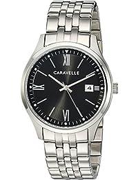 Caravelle Men's Quartz Stainless Steel Watch, Color:Silver-Toned (Model: 43B158)