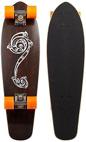 Ridge Skateboards Polynesia Longboard Cruiser Skateboard, Arancione, 27'