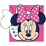 I love Dots Disney Minnie Mouse Party Einladungen, 6Stück