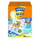 Swirl M40 MicroPor Plus Staubsaugerbeutel für Miele Staubsauger, 10er Pack, 10 Beutel + 2 Ablauffilter -