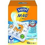 Swirl M40 MicroPor Plus Staubsaugerbeutel für Miele Staubsauger, 10er Pack, 10 Beutel + 2 Ablauffilter