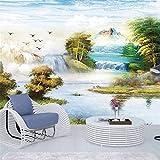 Zyzdsd Benutzerdefinierte Jede Größe Wandbild Tapete Wohnzimmer Tapete 3D Malerei ÖlgemäldeAlpine RiverNaturlandschaft 3D Wandbild Tapete-200X140CM