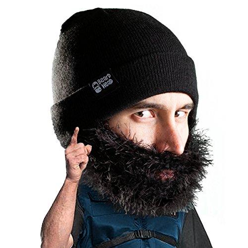 Beard Head Bartmütze – Buschiger Biker – Lustige Strickmütze und Falscher Bart ()