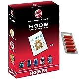 Hoover H30S Sensory Echte Purefilt Staubsaugerbeutel (5Stück + 5Lufterfrischer)