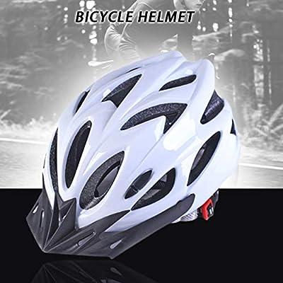 FairytaleMM Bicycle Helmets Matte Black Men Women Cycling Helmet Back Light Mtb Mountain Road Bike Integrally Molded Bicycle Helmets(pure white) by FairytaleMM