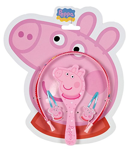 Peppa Pig Set with Headband and Hair Accessories, Pink (Cerdá 2502 - 215)