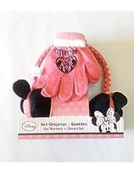 Minnie 2200000341 - Set de orejeras y guantes para niños, color rosa, talla única