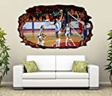 3D Wandtattoo Volleyball Spiel Frauen Turnier selbstklebend Wandbild Tattoo Wohnzimmer Wand Aufkleber 11M286, Wandbild Größe F:ca. 97cmx57cm