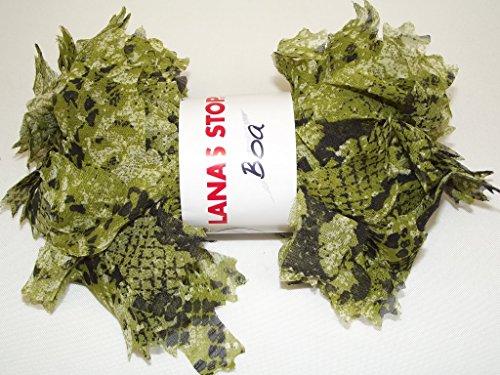 Lanas Stop Boa vert 230 100 % Polyester 70 g 28 m