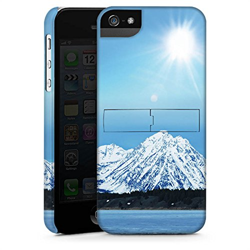 Apple iPhone X Silikon Hülle Case Schutzhülle Gebirge Schnee Gipfel Premium Case StandUp