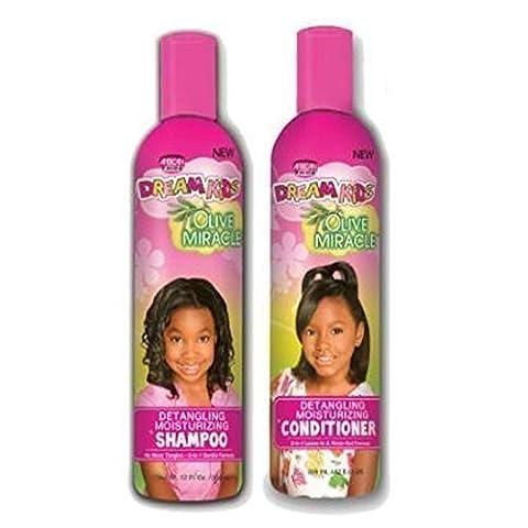 African Pride Dream Enfant Olive Miracle Démêlant hydratant Shampoing et après-shampoing