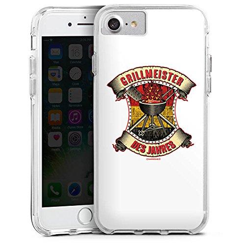 Apple iPhone 7 Bumper Hülle Bumper Case Glitzer Hülle Bbq Grillmeister Grillsaison Sommer Bumper Case transparent