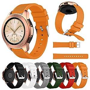 42mm Samsung Galaxy Uhr Armband für Herren Damen,Weiches Gerader Streifen Silikon Uhrenarmband Ersatz Band Bügel Für Samsung Galaxy Smart Intelligent Uhr
