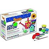 Jovi - Caja de 6 botes pintura látex, 55 ml (670)