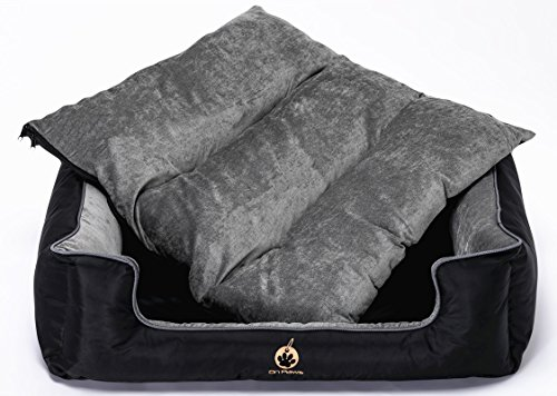 On Paws 'Sleep Well Lounger' Negro Gris