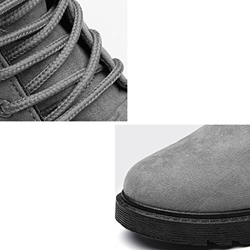 Peluche Cotone Più Short gray Boots Calzature Scarpe Heel Calda Scarpe Scamosciata In Casual Piana Martin Donne In Pelle paqWaPzw