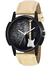 Eraa Guitar Beige Analog Wrist Watch For Men